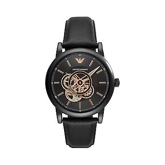 Armani Watches Ar60012 Meccanico Black Leather Automatic Men's Watch