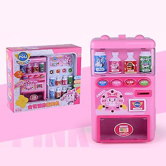 Children's Simulated Vending Machine Puzzle Drinks Toy Pretend Set