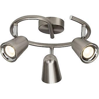 BRILLIANT Lampe Fiks LED Spot Spiral 3flg jern   3x 4W LED integreret (SMD), (350lm, 3000K)   Skaler A++ til E   Hoveder
