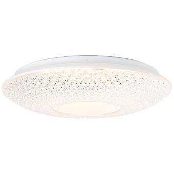 Lampada BRILLIANT Benoit LAMPADA a soffitto a LED 42cm bianco/cromata 1x 23W LED integrato, (2320lm, 3000K) Scala da A a E Risparmio energetico