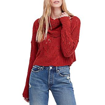Free People | Shades of Dawn Crop Long Sleeve Cowl Neck Sweater
