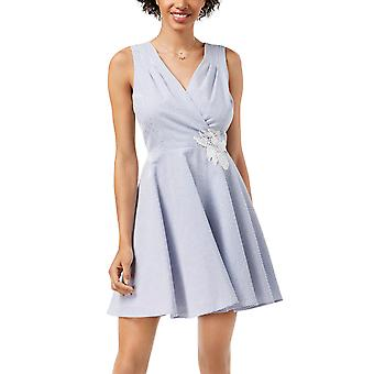 Maison Jules | Seersucker Fit Flare Dress