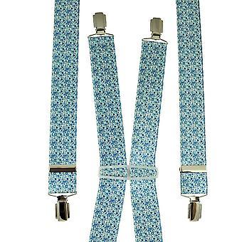Krawatten Planet weiß, blau & grün Blume gemusterte Männer's Hosenträger