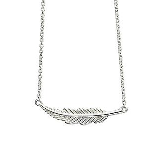 Beginnings Sterling Silver Small Feather Necklace N4382