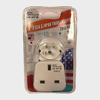 New Boyz Toys 2Pk Travel Adaptor USA White