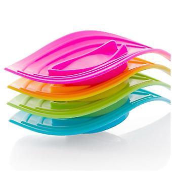 Multifunksjonell Slip Ring Leaves Soap Box, Drain Og Clean Soap Retter