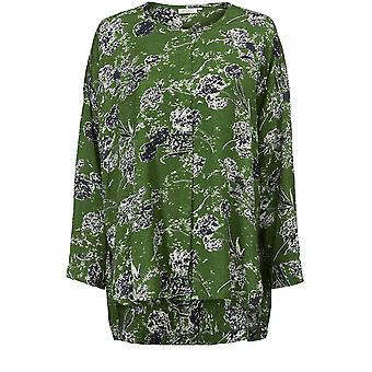 Masai Clothing Ira Green Patterned Blouse