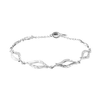 LucyQ Flame Collection Rhodium Plated Sterling Silver Bracelet Size 8.5