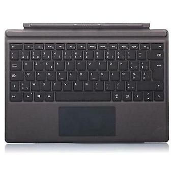 Microsoft Surface Pro 3 ja 4 AZERTY Keyboard ja Cover Belge/French - Musta