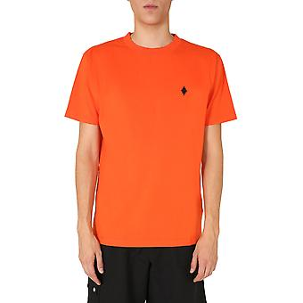 Marcelo Burlon Cmaa018f20jer0102010 Heren's Orange Cotton T-shirt