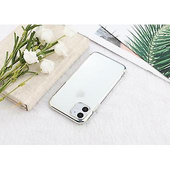 Electroplated TPU shell iPhone 12 Pro Max with two screen protectors.