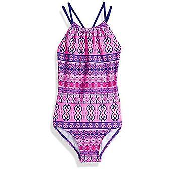 Kanu Surf Big Girls' Jasmine Beach Sport Halter One Piece Swimsuit, Mahina Pi...