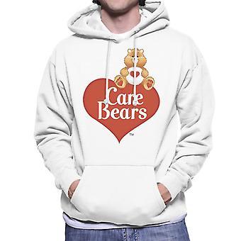 Care Bears Logo Tenderheart Bear Men's Moletom Encapuzado