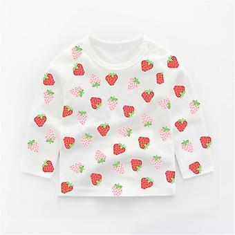 Sweatshirts de bébé d'automne, cotton cartoon animal print infants long-sleeved top