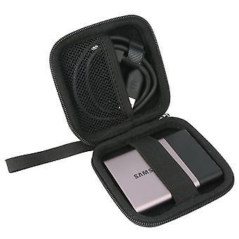 Khanka tvrdé pouzdro nést tašku pro Samsung přenosné ssd t5 / t3 250gb 500gb 1tb 2tb. (hodí se t5, hodí se 1ssd