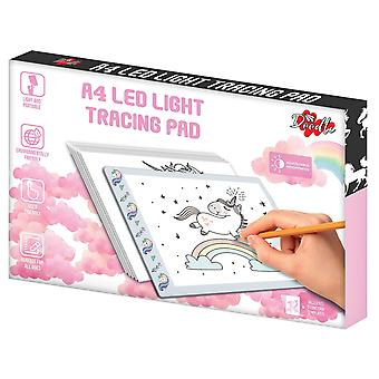 Doodle A4 Ultra-Thin Portable LED Tracing Pad mit USB-Kabel - Einhorn