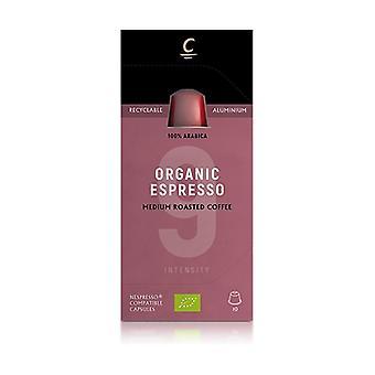 Organic Espresso Coffee Capsules Intensity 9 Eco 10 capsules
