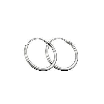 Hoop Earrings Plain & Thin Silver 925