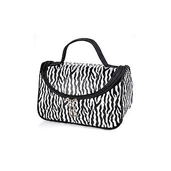 Zebra valkoinen kuvio kosmeettisia muodostavat paketin tapauksessa kantolaukku - malli 172