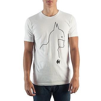 Batman siluetti valkoinen t-paita