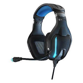 Fone de ouvido gamer com microfone energia Sistem ESG-5 3,5 mm LED Preto
