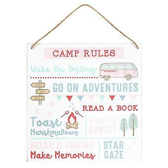 Etwas anderes Camp Regeln Türschild