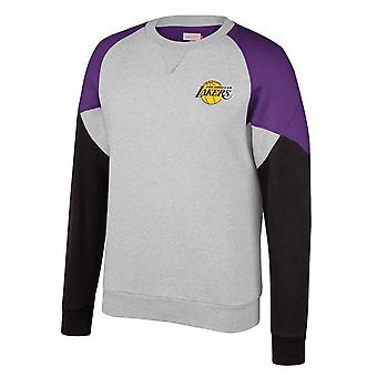 Mitchell & Ness La Lakers Trading Block Crew Sweatshirt Grey LAL GK42