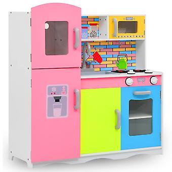 Children's play kitchen MDF 80 x 30 x 85 cm Multicoloured