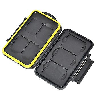 Jjc sturdy and rigid memory card storage case fits 4 x sd sdhc sdxc and 3 x xqd cards fits 4 x sd/ s
