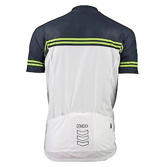 Eigo Diamond Mens Short Sleeve Cycling Jersey White / Black / Green