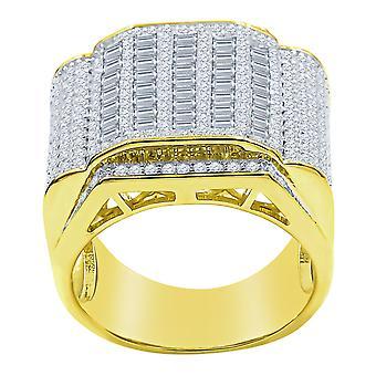 טבעת כסף סטרלינג 925 מיקרו סלאבן - כריזמה