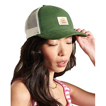 Superdry Embroidery Trucker Cap - Olive indienne