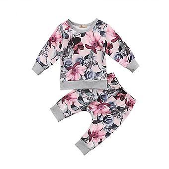 Ensemble de tenue florale et de pantalon de bébé de fille