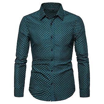 Print Long Sleeve Regular Fit Elegant Shirt Men