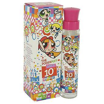Powerpuff tytöt 10-vuotissyntymäpäivä eau de toilette spray warner bros 464306 50 ml