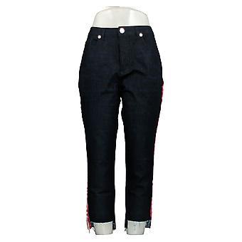 G.I.L.I. Women's Petite Jeans Dual Stretch Side Stripe Ashley Blue A354272