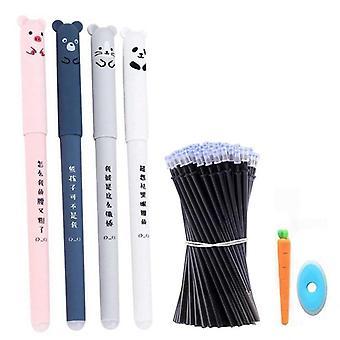 الحيوانات لطيف قابل للمسح قلم إعادة الملء مجموعة مع مقبض قابل للغسل لقرطاسية المدرسة