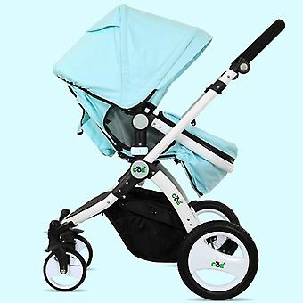 High Landscape Stroller - Four-wheel Luxury Shock Absorber Eco-friendly