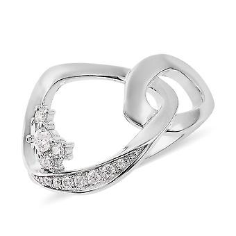 Lucy Q Moissanite Designer Ring voor vrouwen Sterling Silver Perfect Cadeau voor iedereen