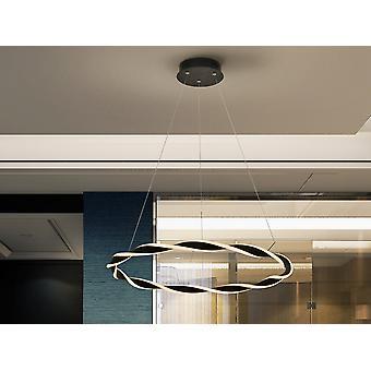Schuller Trenza - Zintegrowane światło wisiorek LED, piaskowany Matt Black