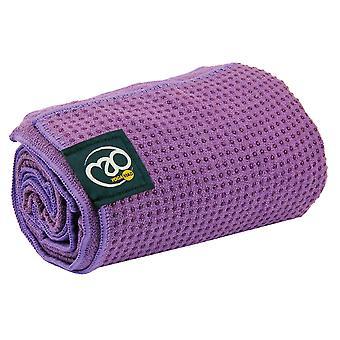 Fitness Mad agarre punto Yoga Mat toalla - púrpura
