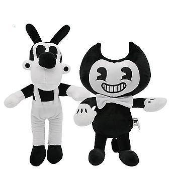 2pcs Thriller Game Bandy And Ink Machine Plush Toy 30cm