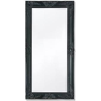 Wandspiegel Barok Stijl 100x50 Cm Zwart