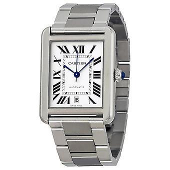 Cartier Tank Solo XL Automatic Silver Dial Men's Watch W5200028