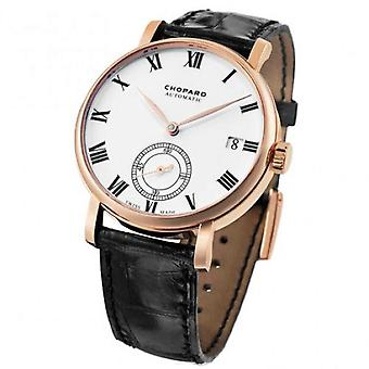 Chopard Classic Manufacture White Dial 18K Rose Gold Automatic Men's Watch 161289-5001