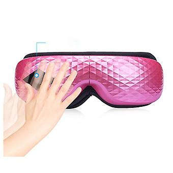 Diamond vibration eye massager wrinkle fatigue relieve hot compressing air pressure therapy heated goggles massage eye care