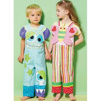 Kwik Sew Sewing Pattern 4205 Toddlers Colour Blocked Butterfly Bibs Size T1-T4