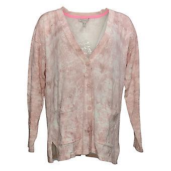 Isaac Mizrahi En direct! Women's Sweater Button Front Cardigan Rose A392463