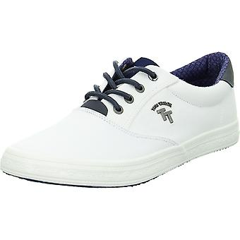 Tom Tailor 1181303WHITE 1181303 sapatos masculinos universais brancos