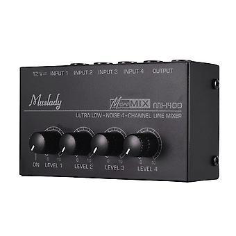 Muslady Erittäin kompakti Low Noise Mono Audio Mixer -pistoke
